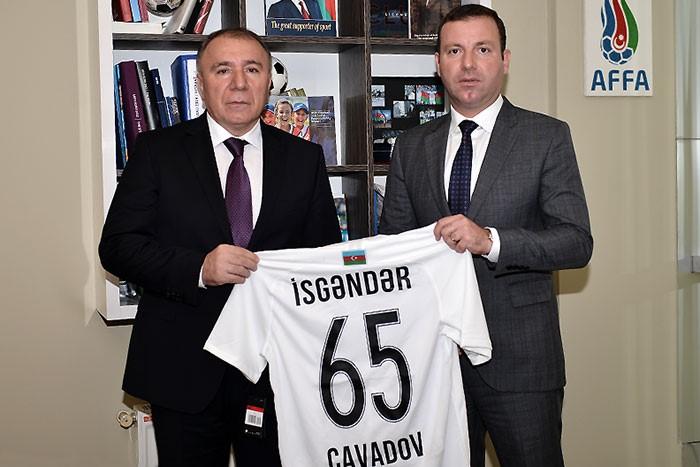 AFFA İsgəndər Cavadovu təbrik etdi