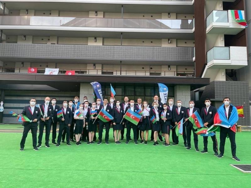 Milli komandamız Tokio-2020-də açılışdan əvvəl - FOTOLAR